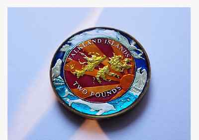 Enamelled Coin 2004 Two Pounds - Falkland Islands