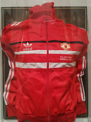 Manchester United FA Cup Final 1983 Match Worn Tracksuit Top