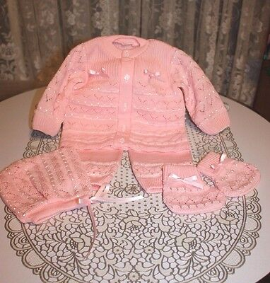 DARLING Fine Delicate Knit Baby Doll Outfit For Reborn PINK