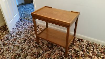 Vintage Oak Wooden Tea Trolley And Card Table