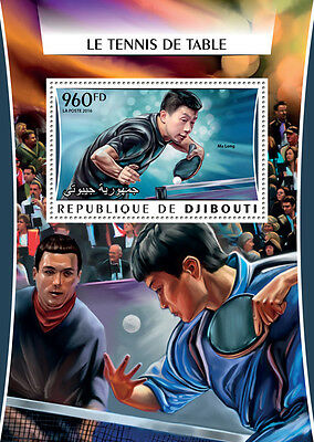 Djibouti 2016 MNH Table Tennis Ma Long 1v S/S Sports Stamps