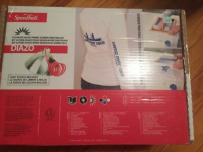 New Speedball Ultimate Diazo Fabric Screen Printing Kit