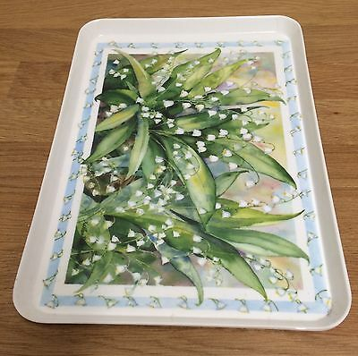 Pretty Melplus Melamine Tray, Snowdrops, Made In Italy