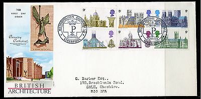 FDCs 1969 Cathedrals set on illustrated, Metropolitan Cathedral Liverpool cancel