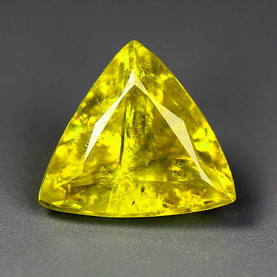 1.72 Cts_Simmering Ultra Nice Gemstone_100 % Natural Yellow Sphene_Russia