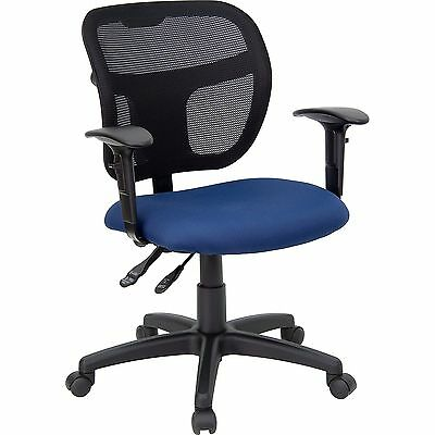 Flash Furniture WL-A7671SYG-NVY-A-GG Mid-Back Mesh Task Chair with Navy Blue ...