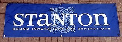 Stanton Banner 6ft x 2ft In Front Of DJ Booth advertising or behind SHARP!!!!!!!