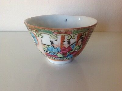 Antique Chinese Famille Rose Tea Bowl