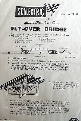 SCALEXTRIC Instructions for Fly-Over Bridge