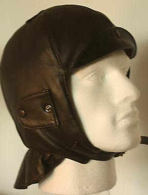 Leather Driving Helmet