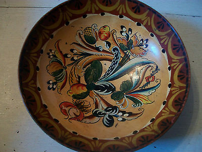 Vintage Norwegian wooden bowl drinking bowl hand painted bowl