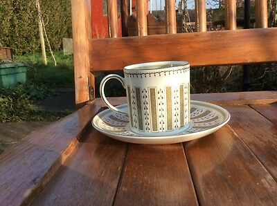 Susie Cooper Persia Coffee Can and Saucer Wedgwood