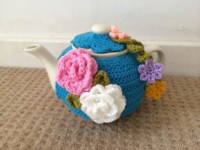Tea cosy unique design for a med/large cozy handmade for teapot spring flowers