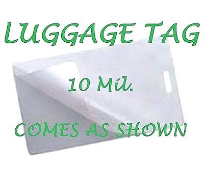 10 Mil LUGGAGE TAGS Laminating Pouches Sheets with Slot 2-1/2 x 4-1/4 (100 EACH)