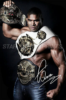Alistair Overeem Signed Photo Print Poster Art - 12 X 8 Inch