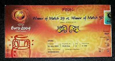 Original 2004 European championships final Greece v Portugal ticket world cup