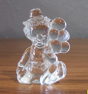 "Mosser Glass Pee Wee The Clown Crystal ""q"" (248)"