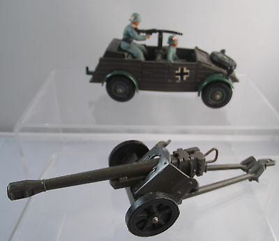 Britains German Military WW2 Kubelwagen With Cannon Set  Soldiers
