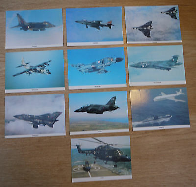 "POSTCARDS - 10 X MILITARY AIRCRAFT by COLOURMASTER INT - SIZE 6"" X 4"""