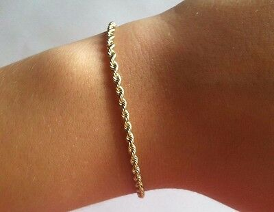 14k wellow solid gold 585 Lady's or Man's Gold Bracelet 2 1/2mm