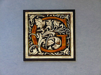 """Beautiful Stained glass."""" S """".Hand painted .Kiln fired. 100 x 100 mm, New."""