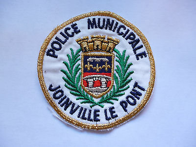 "French Municipal Police  ""joinville Le Pont"" Arm Patch."