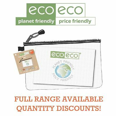 eco-eco Stationery Recycled Super Strong Tuff Mesh Storage Zip Cases - ALL TYPES