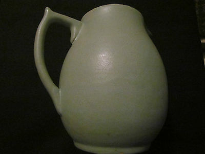 """Saturday Evening Girls Paul Revere Pottery 7"""" Green Pitcher"""