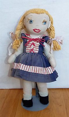 """Vintage Cloth Doll with Outfit MARY JANE tag 14 1/2"""" Tall"""
