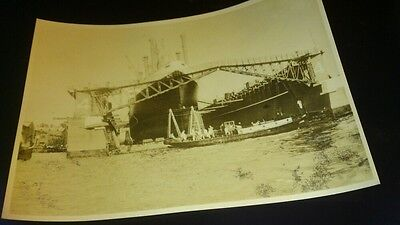 Old postcard amsterdam floating dock real photo