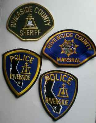 U.S. POLICE PATCHES : CALIFORNIA x 4   Riverside County