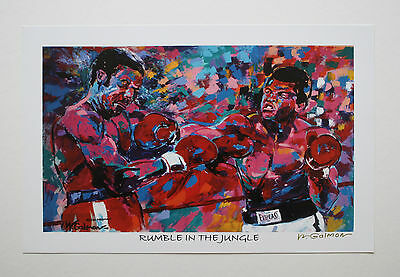 """Muhammad Ali """"rumble In The Jungle"""" Fine-Art Print Signed By Artist Winford"""