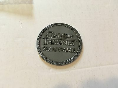 Game Of Thrones Promotional Slots Merchandise Large Collector Coin!!