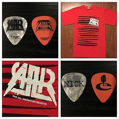 The All American Rejects T-Shirt -Blink 182,A Day To Remember)+2guitar Picks