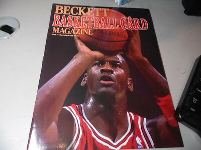 1990 March/April  Beckett Basketball Monthly Michael Jordan   Issue #1