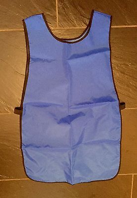 Kids Blue Water Resistant Nylon Art Cookery Tabard Apron Age 5-7