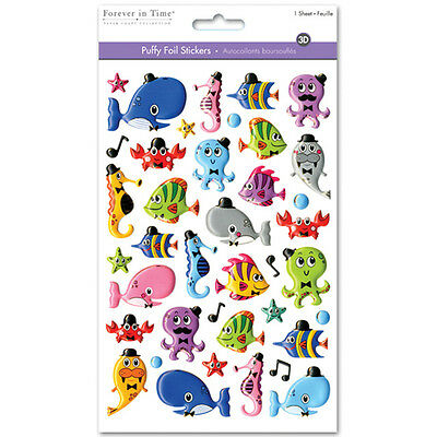 Multicraft 3D Puffy Foil Stickers Sea Pals SS058A