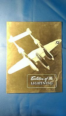 "1944 ""Evolution of the LIGHTNING"" the P-38 by Lockheed"
