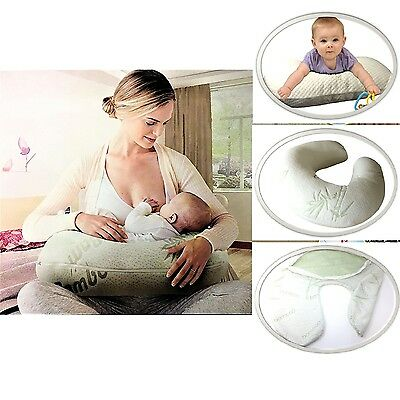 Breast Feeding Pillow Baby Lounger Nursing Boost Brest Support With Cover Bamboo