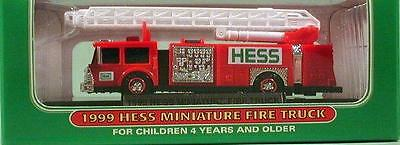 HESS Mini MINIATURE Truck Series ~ 1999 FIRE TRUCK ~ Firetruck NIB Collectible