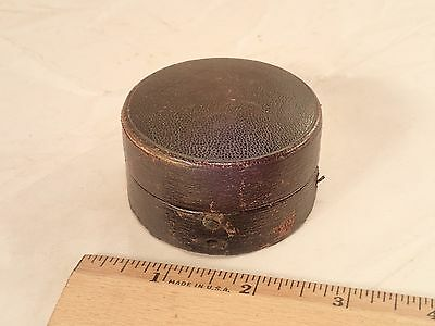 Antique Leather Case for Brass Combination Pocket Barometer & Thermometer