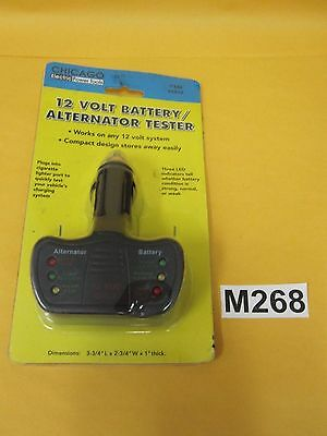 Chicago Electric 12 Volt Battery / Alternator Tester / ANY 12V System / Compact