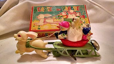 Vintage Easter on Parade Wind Up Celluloid & Tin Toy Occupied Japan