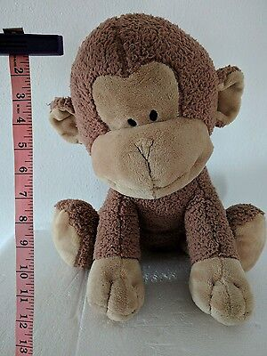 "FAO Schwarz Plush Monkey Sitting  16"", Monkeez, playful, build a Bear lot 5"