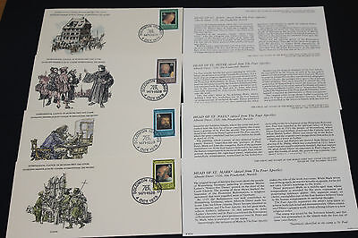 Solomon Islands Art Stamps Of The World Series First Day Covers X 4 Lim Edition