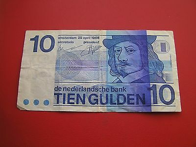 Netherlands 10 gulden 1968 in used condition no 2362576185 (ref e17)
