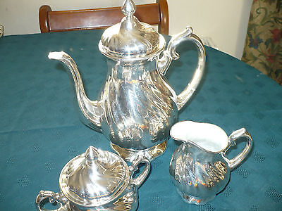 Vintage Silver Wmf Silver  Plated China Coffee Set