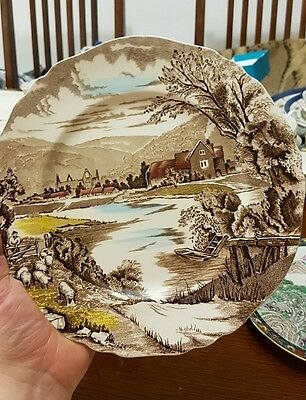 Antique Alfred Meakin hand engraved plate