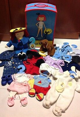 """Madeline 15"""" Doll Wardrobe Trunk Genevieve Dog Outfits Accessories Toy Set Lot"""