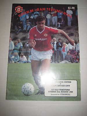 Kevin Moran, Manchester United 1988 Testimonial Programme